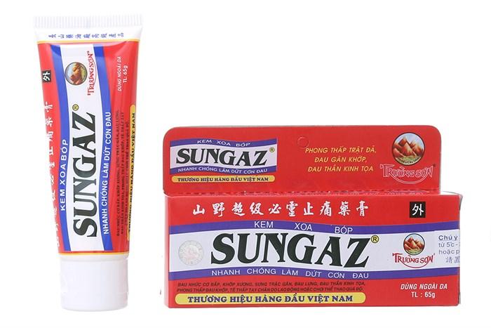 Kem hỗ trợ giảm đau nhức Sungaz 30g