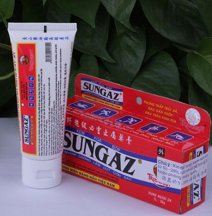 Kem hỗ trợ giảm đau nhức Sungaz 30g không nóng, hiệu quả nhanh