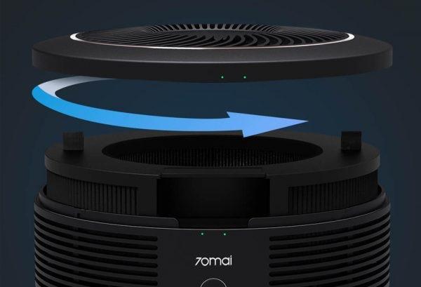 Máy lọc không khí ô tô Xiaomi 70mai pro giúp lọc sạch không khí 360