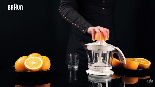 Máy vắt cam Braun MPZ9 cho chất lượng nước cam tiêu chuẩn, nguyên chất