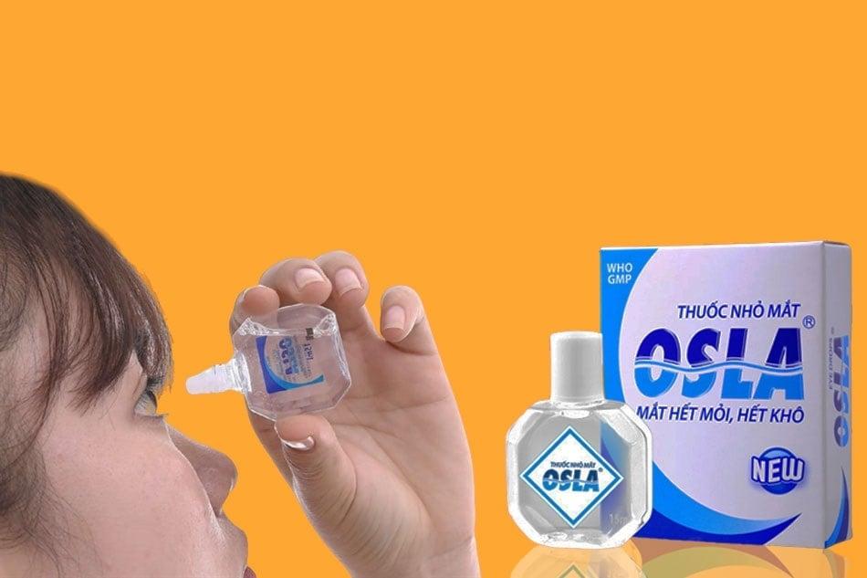 Nước nhỏ mắt Osla hỗ trợ chăm sóc mắt dịu nhẹ