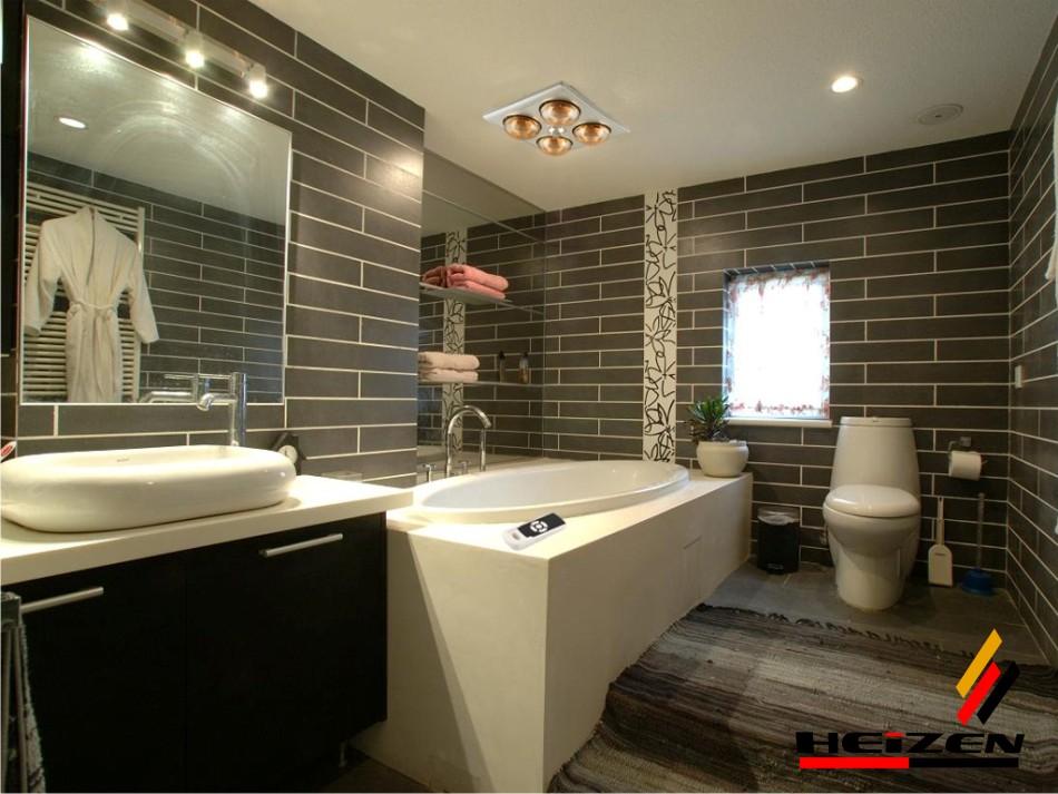 Đèn sưởi nhà tắm âm trần Heizen HE-4BR sang trọng, hiện đại