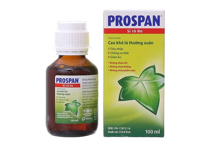 Si ro ho cho bé Prospan chai 100ml