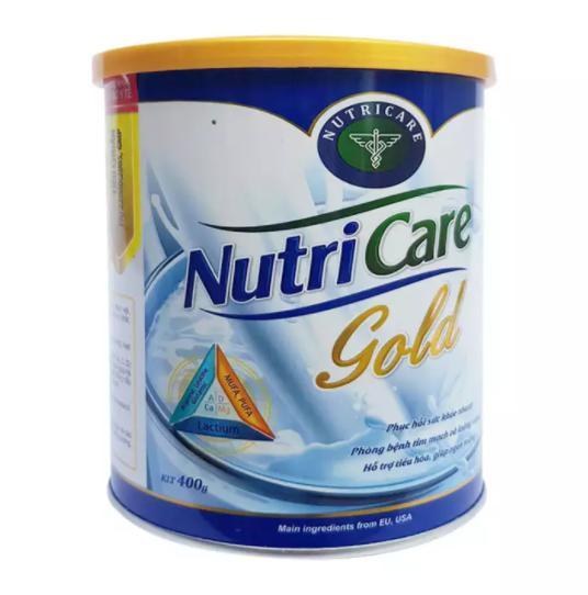 Sữa Nutricare Gold hỗ trợ phục hồi, tăng cường sức khỏe