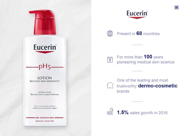 Sữa dưỡng thể Eucerin pH5 Lotion tinh chất dịu nhẹ trên da