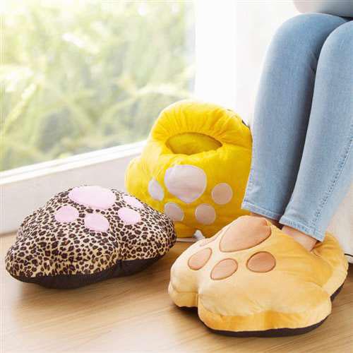 Túi sưởi ủ ấm chân đa năng họa tiết hình chân mèo