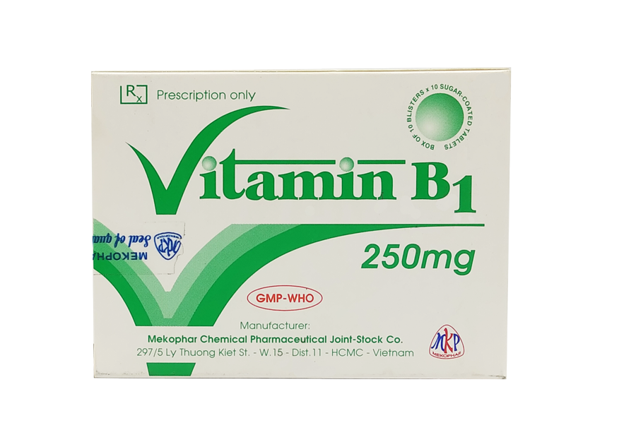 Vitamin B1 250mg Mekophar hộp 100 viên
