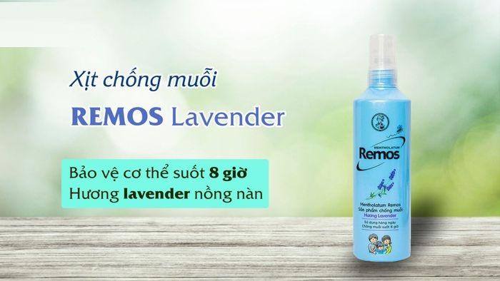 Xịt muỗi hương hoa oải hương Remos Lavender chăm sóc mẹ và bé