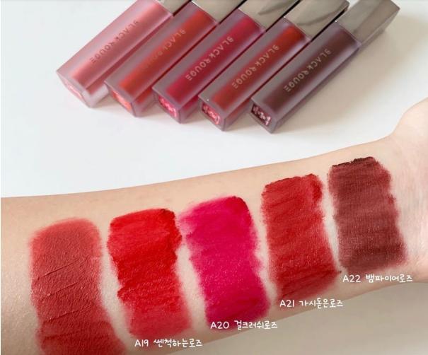 Son Kem Lì Black Rouge Air Fit Velvet Ver4 A20 sáng, mượt môi