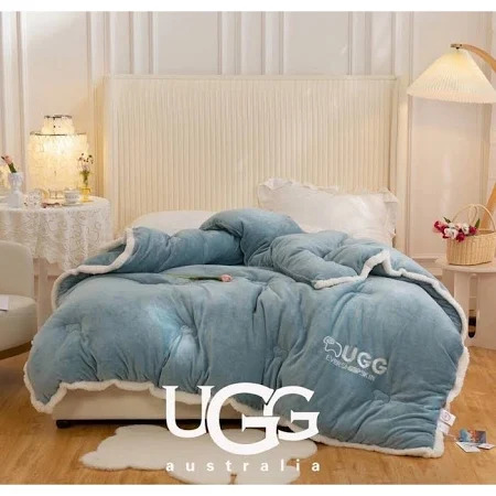 Chăn lông cừu Úc UGG  2 x 2.3m  màu xanh