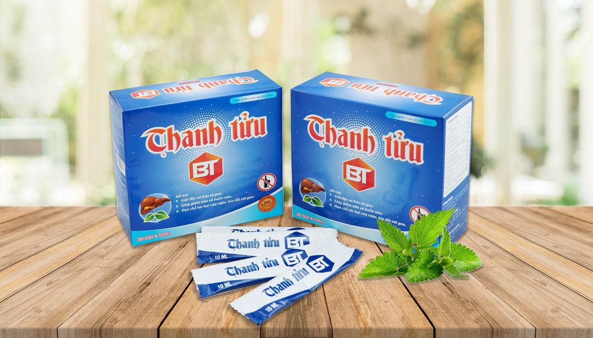 Gói uống giải rượu Thanh Tửu BT hỗ trợ giải rượu nhanh