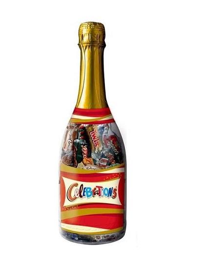 Kẹo socola Úc Celebrations hình chai rượu
