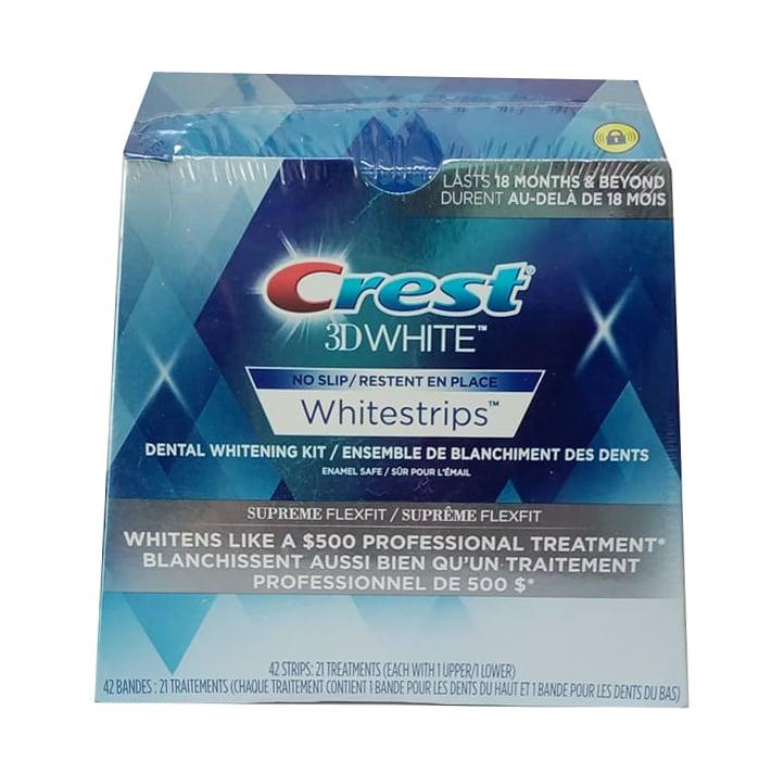Miếng dán trắng răng Crest 3D Supreme Flexfit