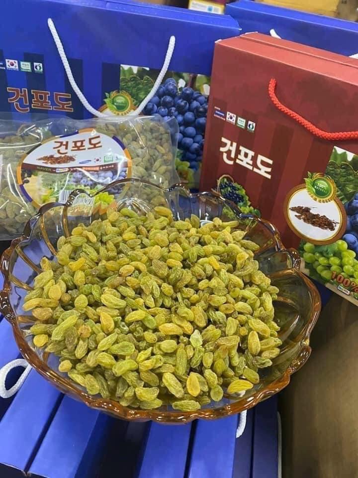 Nho khô xanh Hàn Quốc Boeun Loess Jujube ngọt thanh, mềm giòn
