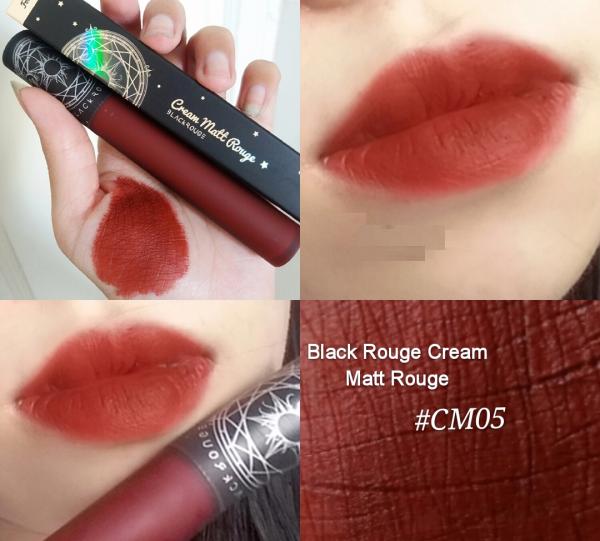Son kem lì Black Rouge Cream Matt Rouge CM05 màu son lạnh, mượt