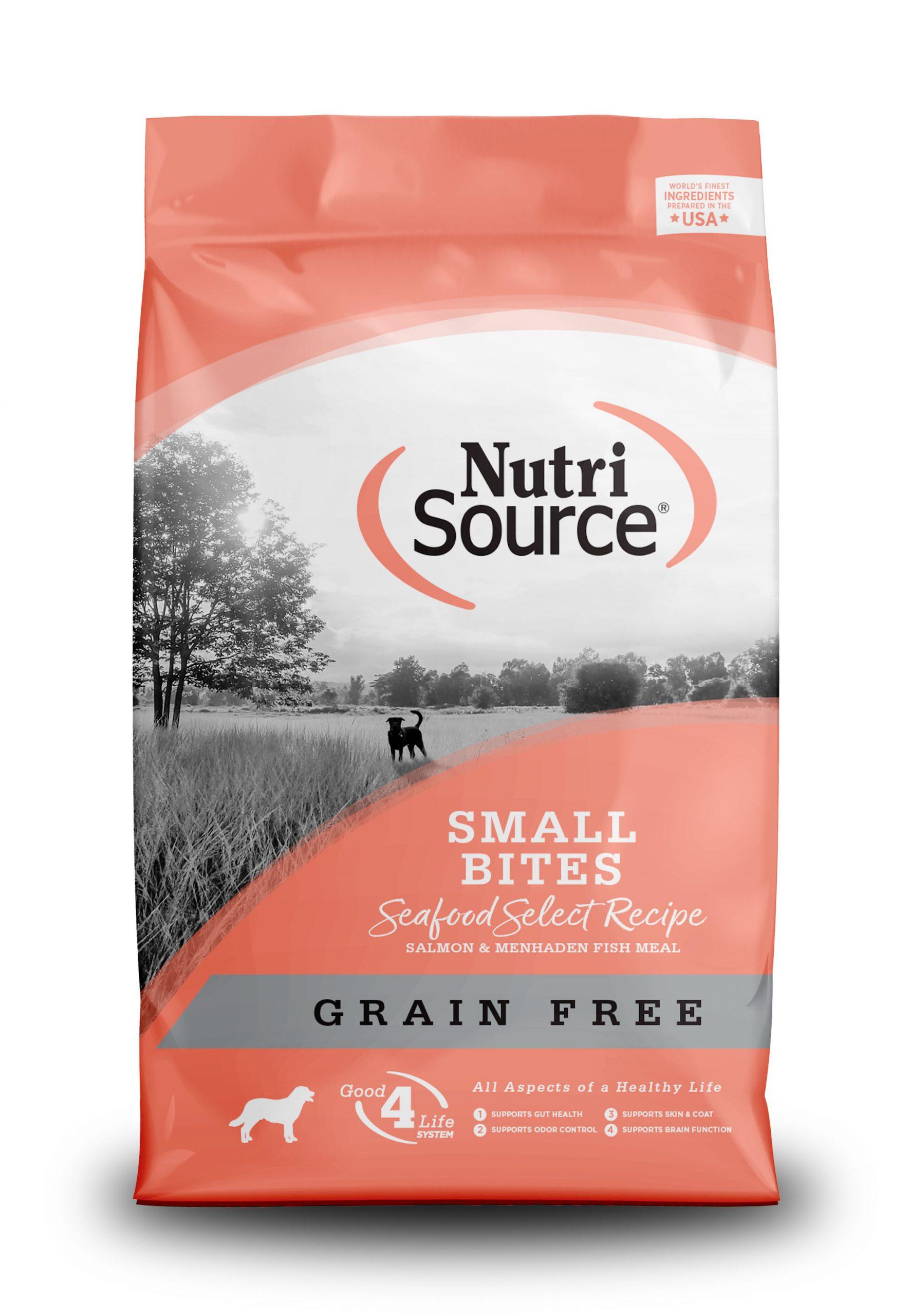 Thức ăn cho chó NutriSource Small BreedSeafood Grain Free vị cá hồi