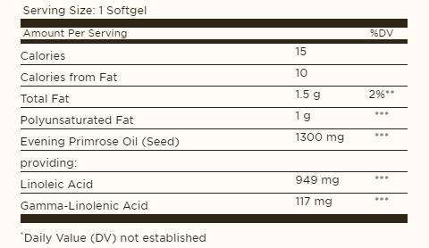 Thành phần của tinh dầu hoa anh thảo Solgar Evening Primrose Oil
