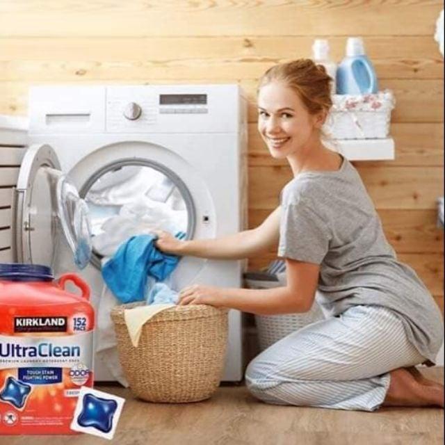 Viên giặt xả kháng khuẩn Kirkland Signature Ultra Clean bảo vệ sức khỏe toàn diện