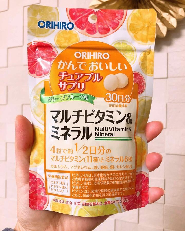 Viên bổ sung vitamin và khoáng chất Orihiro Nhật Bản