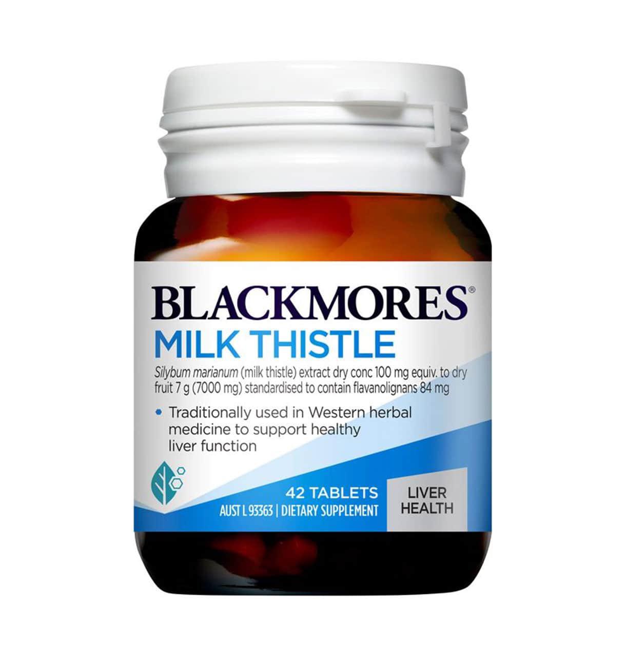 Viên uống hỗ trợ gan Milk Thistle Blackmore của Úc mẫu mới