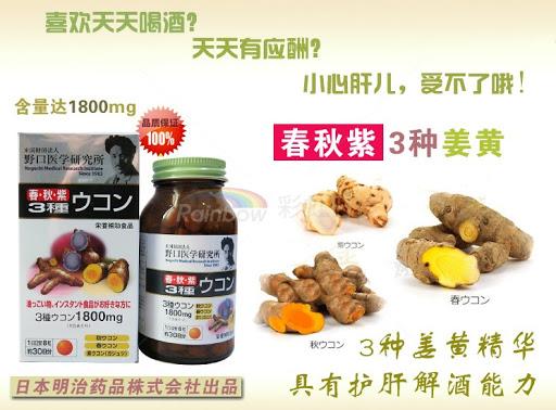 Thành phần viên uống Noguchi Three Turmerics 1800mg