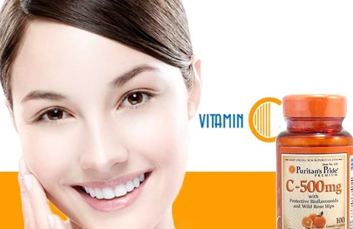 Viên uống bổ sung vitamin C hỗ trợ chăm sóc da sáng khỏe