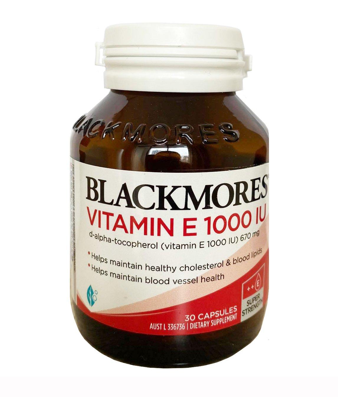 Viên uống Blackmores Natural Vitamin E 1000 IU hộp 30 viên của Úc mẫu mới