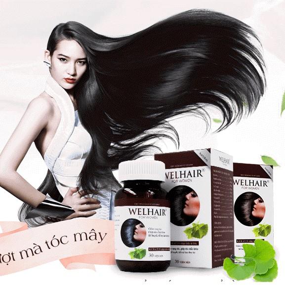 Viên uống Hỗ Trợ Ngăn Rụng Tóc Welhair for Women làm mềm mượt tóc