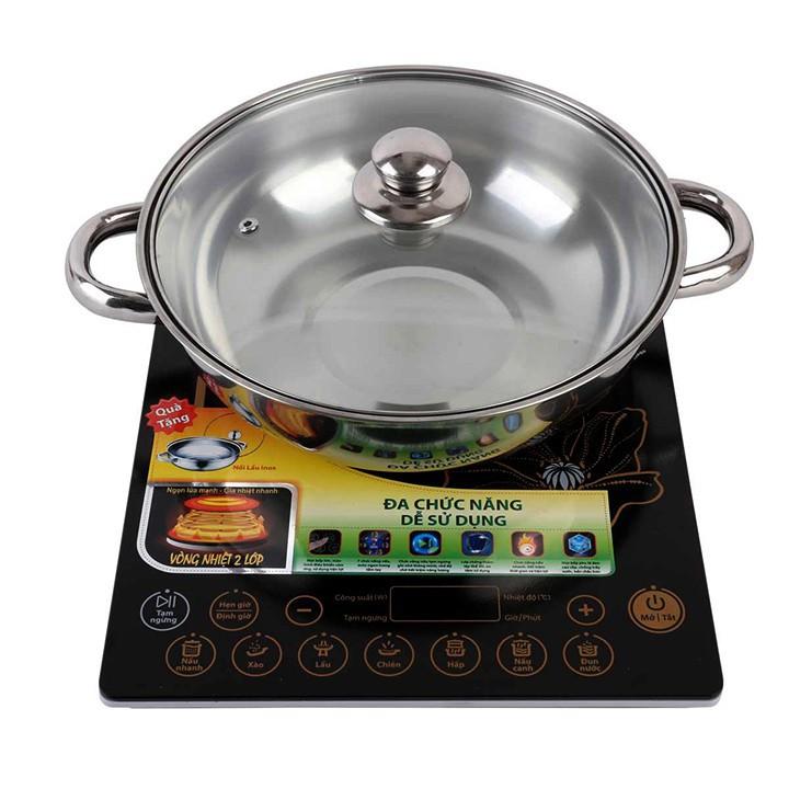 Bếp từ cảm ứng mặt pha lê Supor SDHCB45VN hỗ trợ nấu nhanh