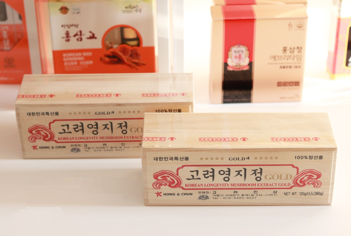 Thành phần của cao linh chi hộp gỗ trắng Hong IL Chun