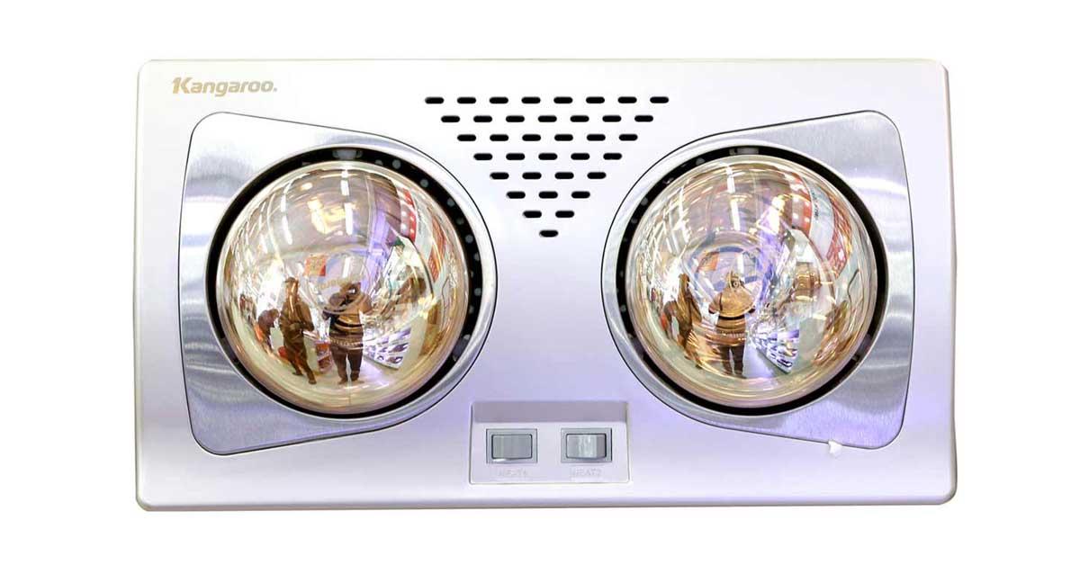 Đèn sưởi nhà tắm Kangaroo KG256 làm nóng nhanh, hiệu quả tốt