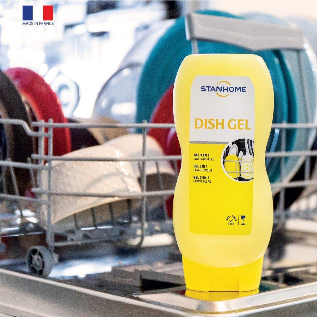 Gel rửa bát 6 trong 1 dish gel Stanhome hỗ trợ làm sạch chén bát hiệu quả