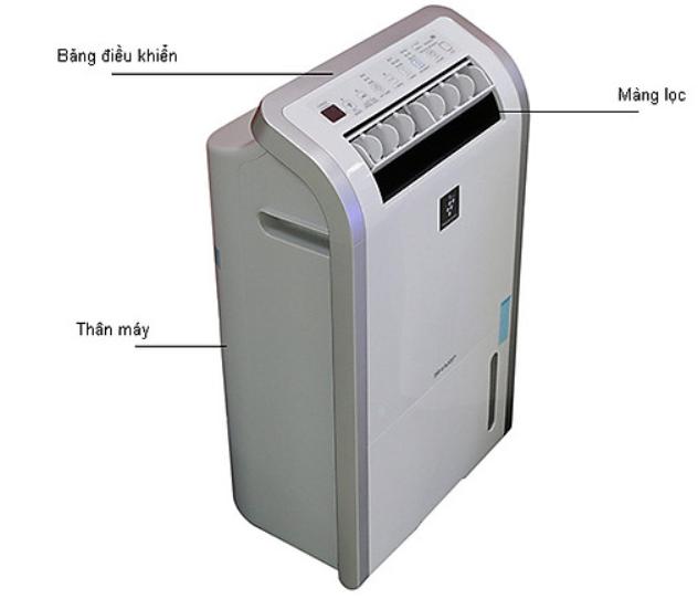 Cấu tạo máy hút ẩm, lọc không khí Sharp DW-D20A-W