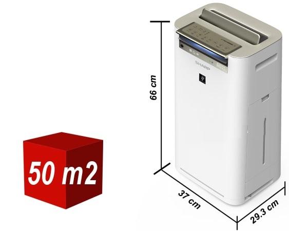 Máy lọc không khí và tạo ẩm Sharp KC-G60EV-W kích thước lớn, hỗ trợ không gian phòng rộng