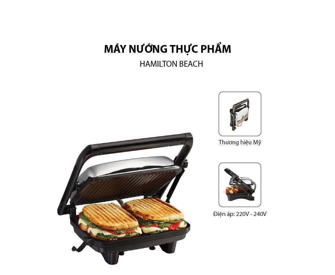 Máy nướng bánh mì Hamilton Beach 25460-IN hỗ trợ nướng bánh mì thơm ngon