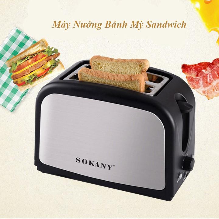 Máy nướng bánh mì sandwich Sokany HJT 008s chế biến nhanh