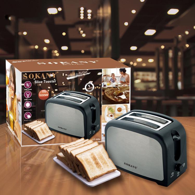Máy nướng bánh mì sandwich Sokany HJT 008s hỗ trợ các món bánh mì nhanh, thơm ngon