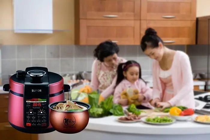 Nồi áp suất điện tử Supor CYSB520QVN-100 phục vụ bữa cơm gia đình thơm ngon
