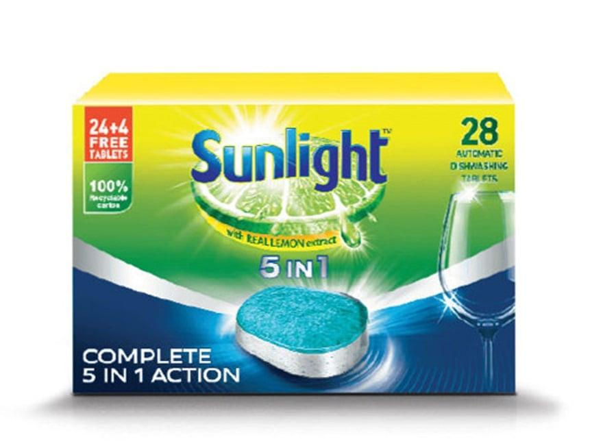 Viên rửa chén bát 5 in 1 Sunlight