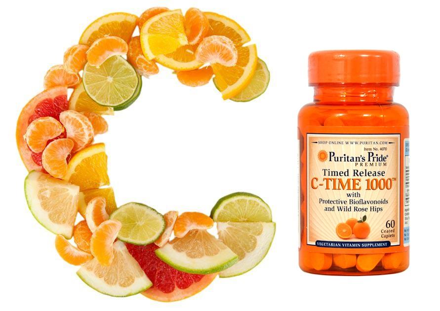 Vitamin C 1000 mg with Rose Hips Timed Release hỗ trợ tăng cường đề kháng