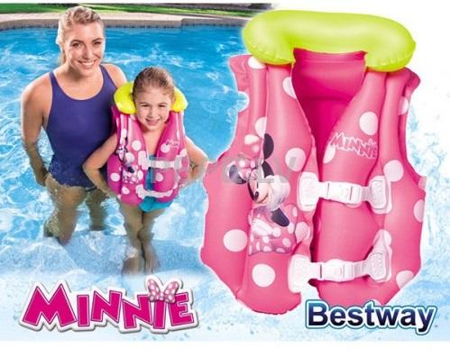 Áo phao bơi chuột Minnie cho bé tập bơi dễ dàng