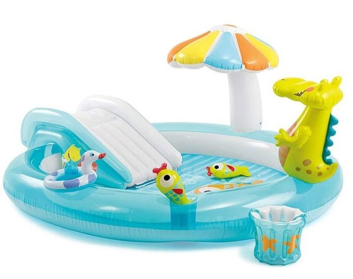 Bể bơi phao cầu trượt cá sấu Intex 57165