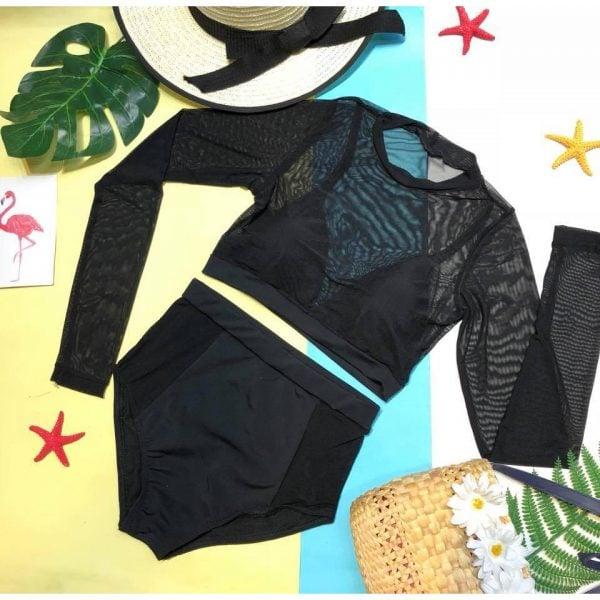 Set đồ bơi áo quần phối lưới ren
