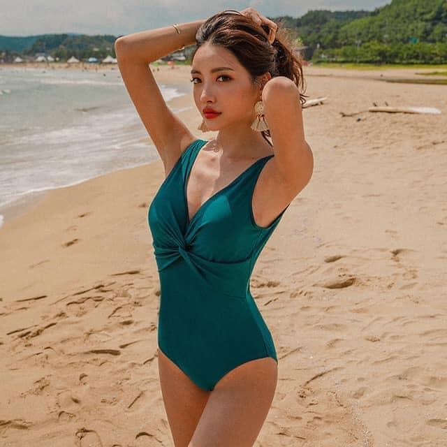 Áo tắm bikini tấm liền buộc nơ lưng trần quyễn rũ