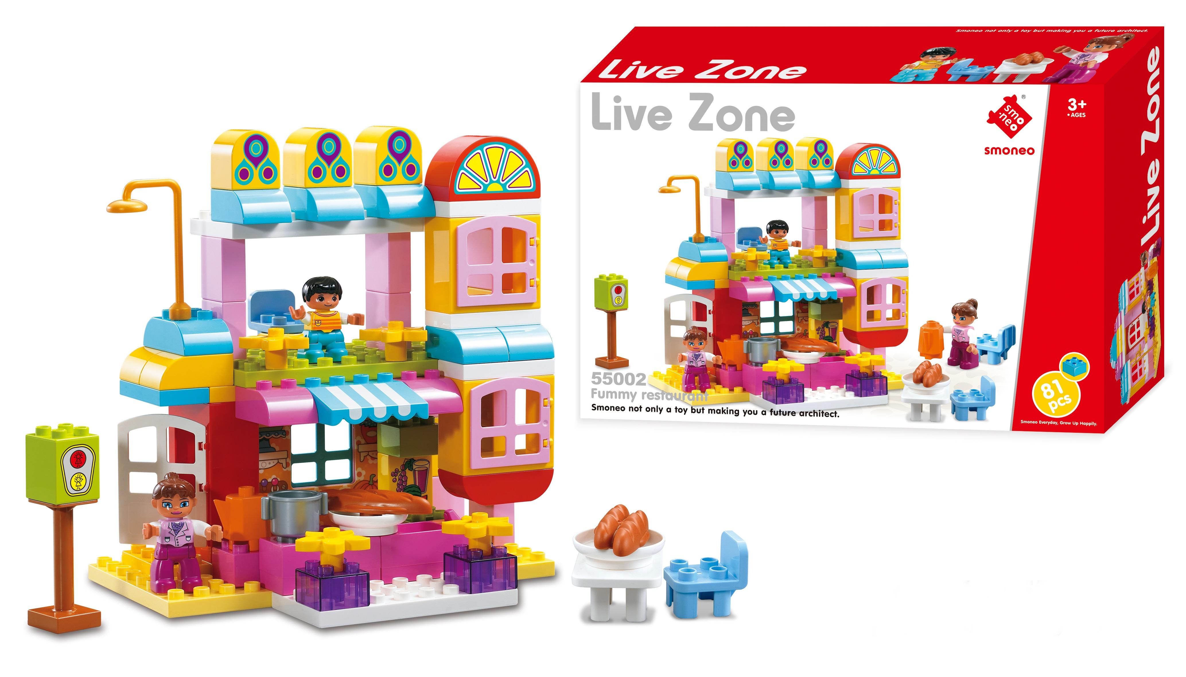 Bộ đồ chơi lắp ghép nhà hàng vui vẻ 81 chi tiết Toys House 55002