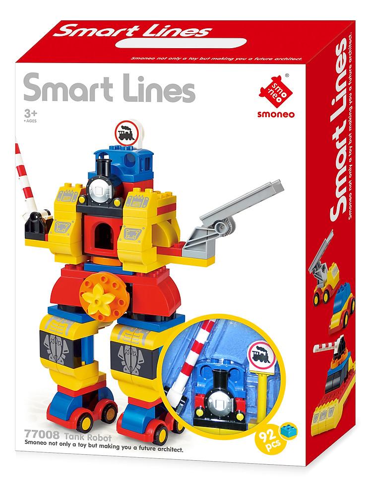 Bộ đồ chơi xếp hình lắp ghép Robot 92 mảnh ghép