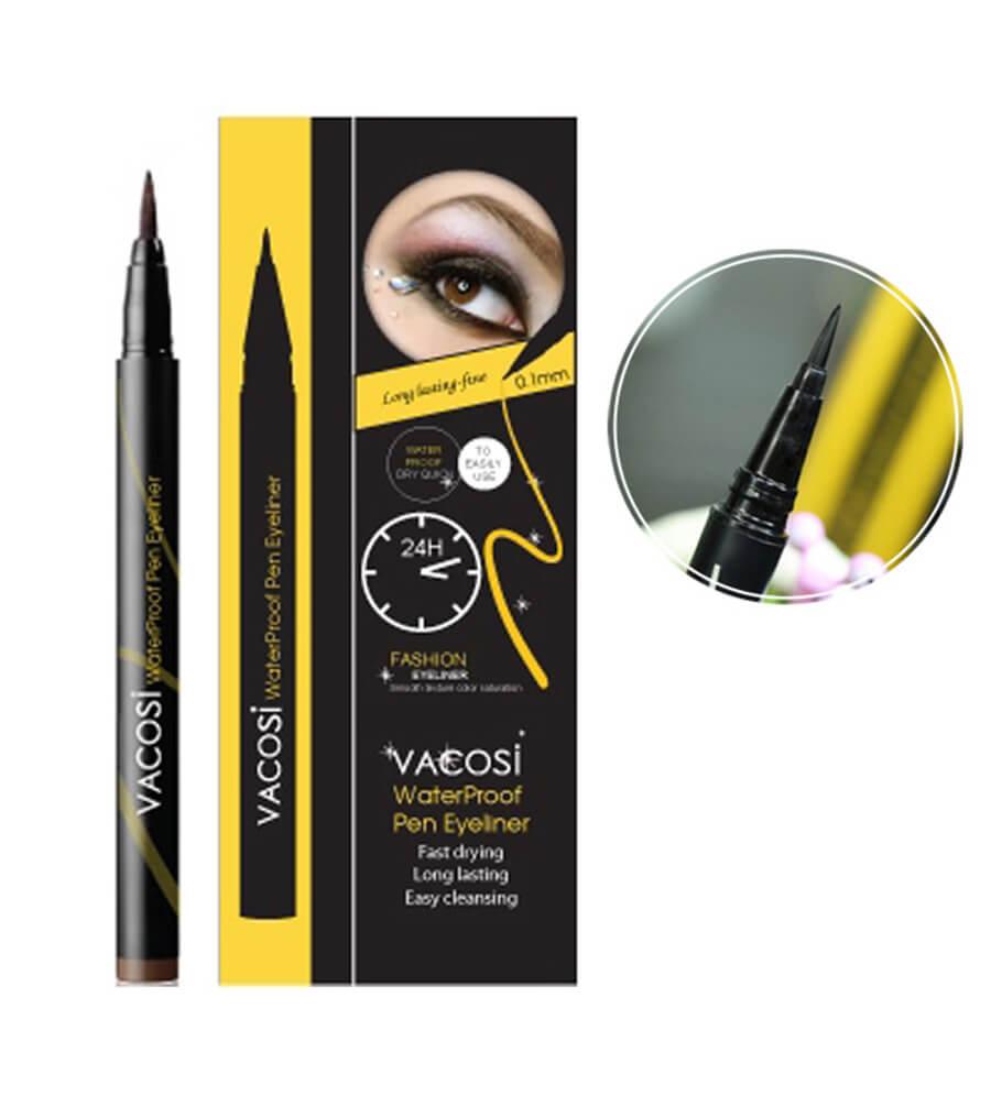Bút kẻ mắt Vacosi Waterproof Pen Eyeliner sắc nét quyến rũ