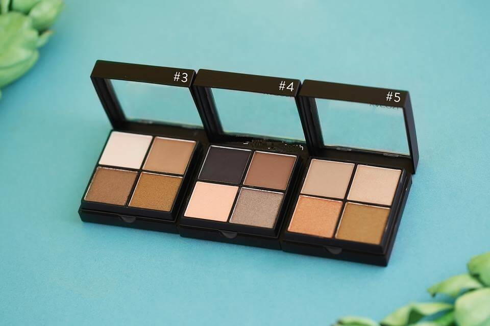 Bảng phấn Mắt Vacosi Natural Studio Eye Shadow bảng màu 3, 4 và 5