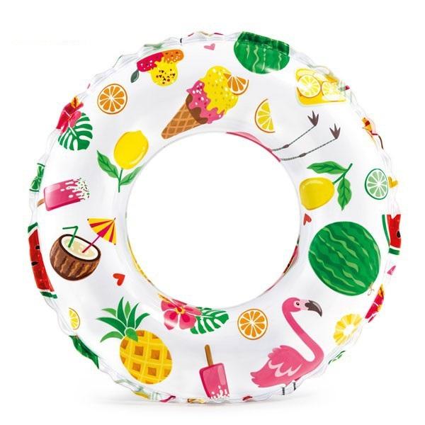 Phao bơi chống lật cho bé Intex 59230 họa tiết kem, trái cây