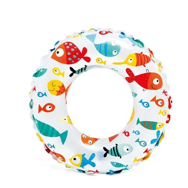 Phao bơi chống lật cho bé Intex 59230 họa tiết cá